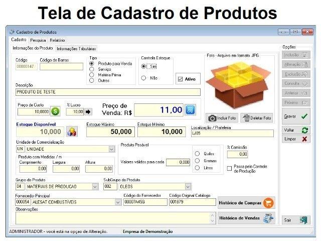 Sistema de Gestão. Cadastros, Estoque, Caixa, Financeiro, Vendas, Compras, Relatórios - Foto 2