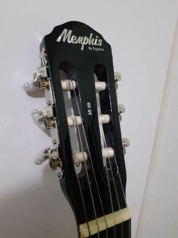 Violão Memphis novo + capa - Foto 4