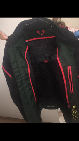 Jaqueta Forza Masculina Mugello Textille Preto/Vermelho - Foto 4