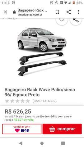 Bagageiro teto Pálio/Siena 4 pts