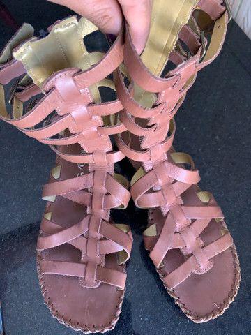 Sandália couro linda 37((150$)) - Foto 4