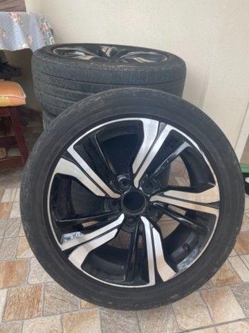 Vendo barato Rodas 17  5 furos zeradas do Honda Civic 2020 com pneus