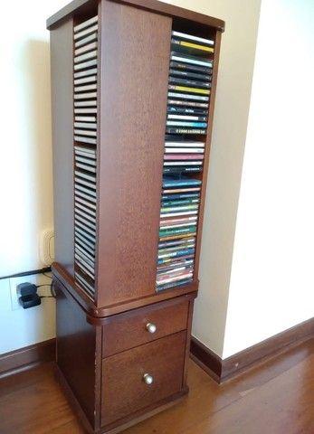 Porta cd e gaveteiro em madeira maciça - Foto 2