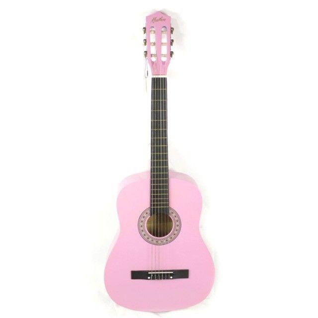 Violão kauthon clássico nylon rosa 946npk