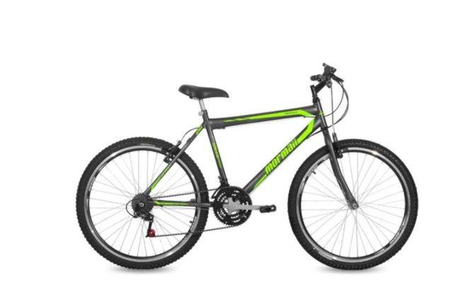 Bicicleta Mormaii Aro 26 Jaws Grafite Verde