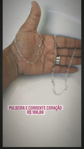 Colar junto com pulseira - Foto 4