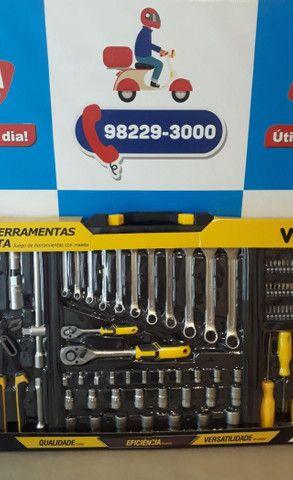 Jogo de ferramentas com maleta 110 peças/Vonder ? Entrega grátis