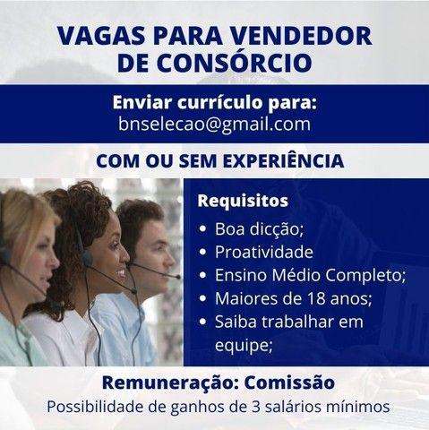VAGA PARA VENDEDOR DE CONSÓRCIO