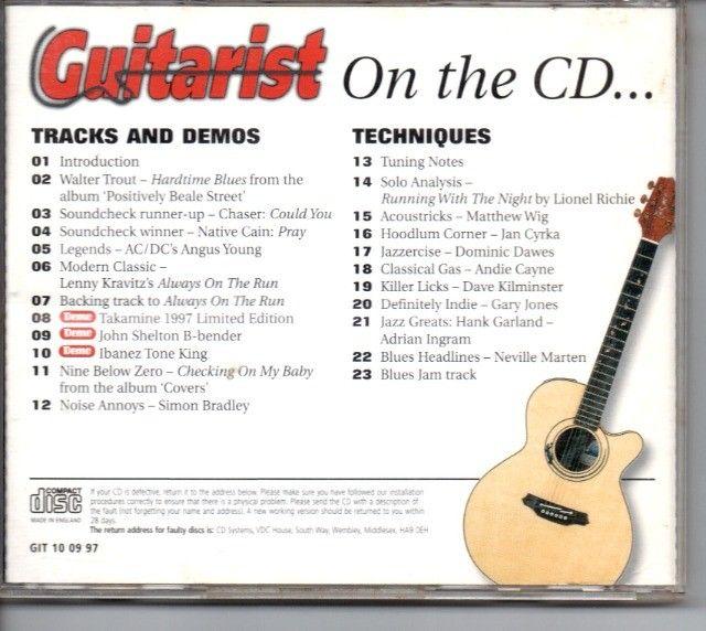 Revista Guitarist + CD com Backing Tracks (Setembro de 1997) - Foto 4