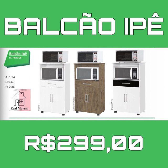 Balcão com espaço para forno e microondas