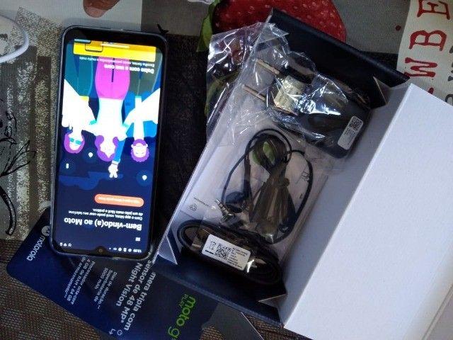 Troco Motorola G9 play 64 gb, azul safira - Foto 3