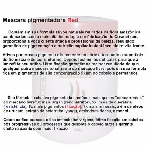 3 Máscara Color Red Vermelha Bittes Hair 500g - Foto 2