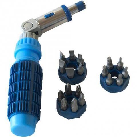 Chave Articulada Com Catraca (18 Bits) Megatools Jogo com 18 unidades - Foto 2