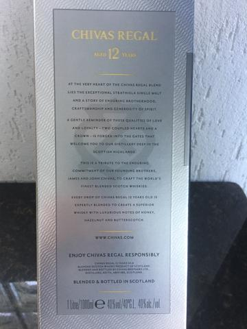 Wisk Chivas 12 anos original lacrado na embalagem garantia - Foto 3