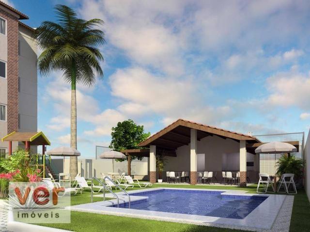 Apartamento com 2 dormitórios à venda, 48 m² por R$ 197.930 - Parangaba - Fortaleza/CE - Foto 2