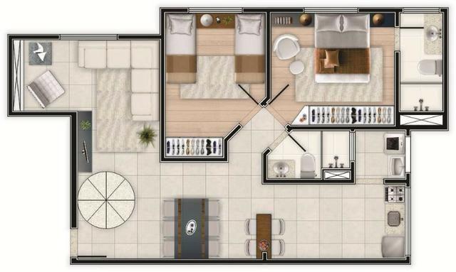 """* Oportunidade! Siete Residence *""- 02 dorms c/ suíte, piso, box e varanda gourmet-Pronto - Foto 13"