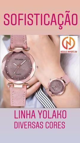 Lançamento! relógio feminino yolako