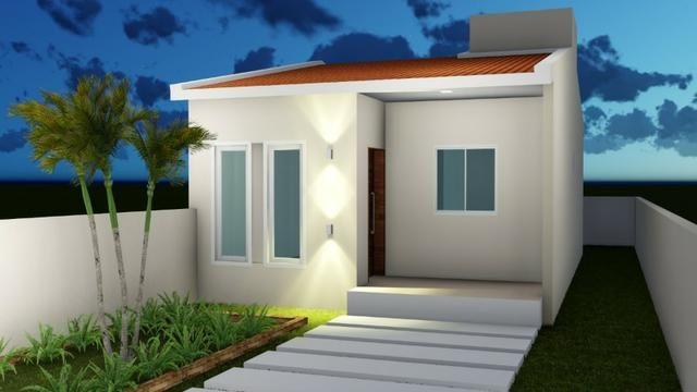 Vendo Casas 2 ou 3 quartos na cidade jardim - Financiamento Caixa - Entrada com FGTS - Foto 3
