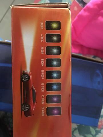 Xênon modelo h1 novo + farol neblina corsa 2001 novo na caixa - Foto 4