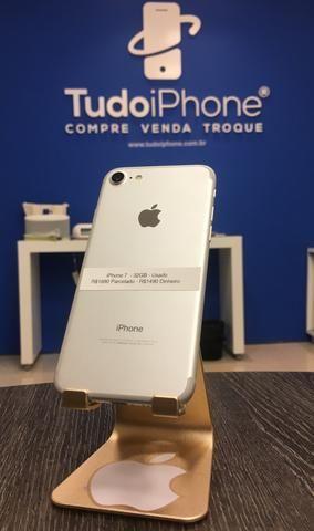 IPhone 7 - 32GB - Usado - Silver (Prata com Branco) - Foto 2