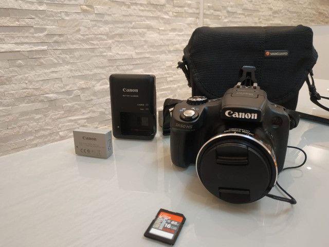 Câmera semi-profissional Canon SX50Hs