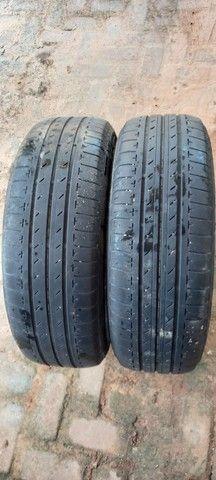 Vendo 2 pneus Aro15 da Bridgestone WhatsApp *00 - Foto 2