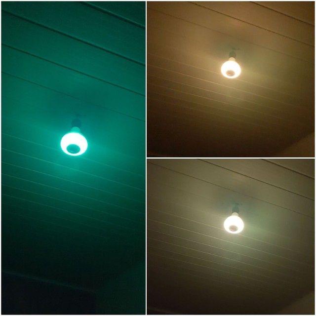 Lâmpada colorida bluetooth  - Foto 6