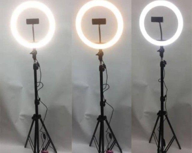 Ring Light Iluminador 10 Polegadas + Tripé 2 Metros Altura Promoção - Foto 4