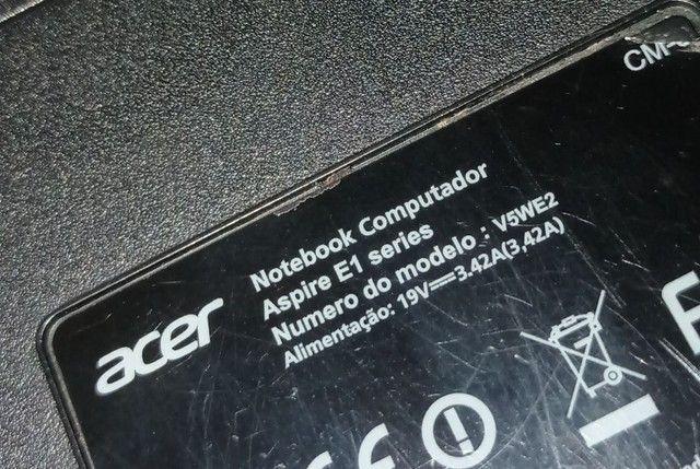 QUERO COMPRAR CARCAÇA COMPLETA NOTEBOOK ACER ASPIRE E1 SERIES - Foto 3
