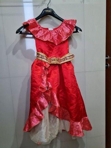 Vestido original Disney Elena de Avalor tam 5/6 - Foto 3