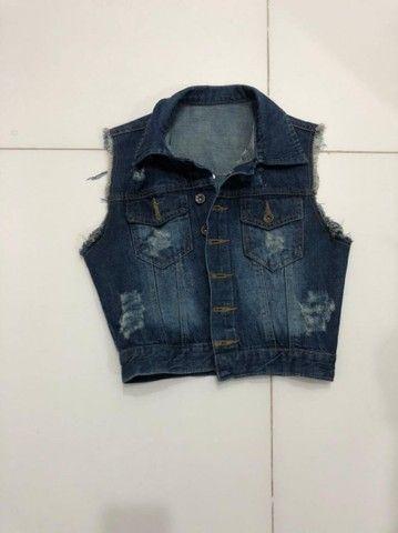 Colete jeans escuro - Foto 3