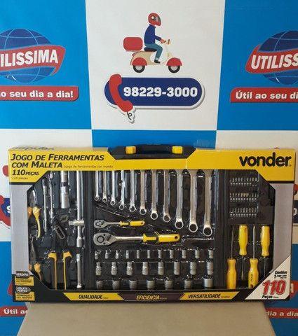 Jogo de ferramentas com maleta 110 peças/Vonder ? Entrega grátis - Foto 5