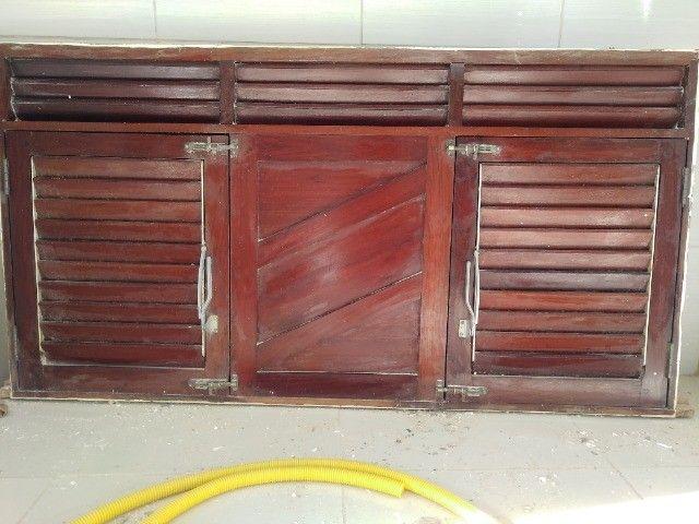 Janelão 150cm x 80cm de madeira de lei Massaranduba - Foto 3