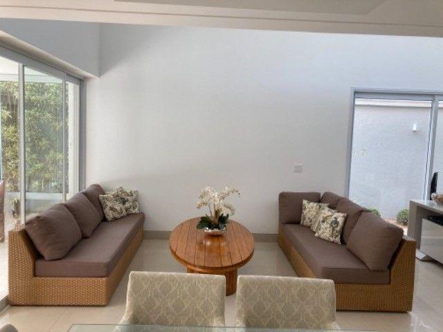 """Vendo sofá em junco de 3mx2,10 (dois módulos de 2,10 que se somam em """"L""""). - Foto 5"""