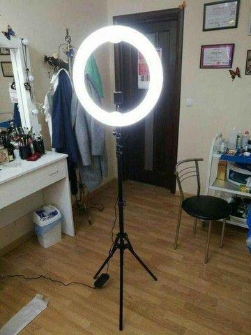 Ring Light Iluminador 10 Polegadas + Tripé 2 Metros Altura Promoção - Foto 6