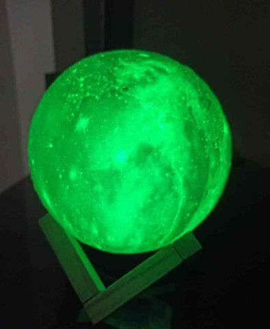 Luminária Planeta Cheia 3D Troca de Cor  - Foto 4