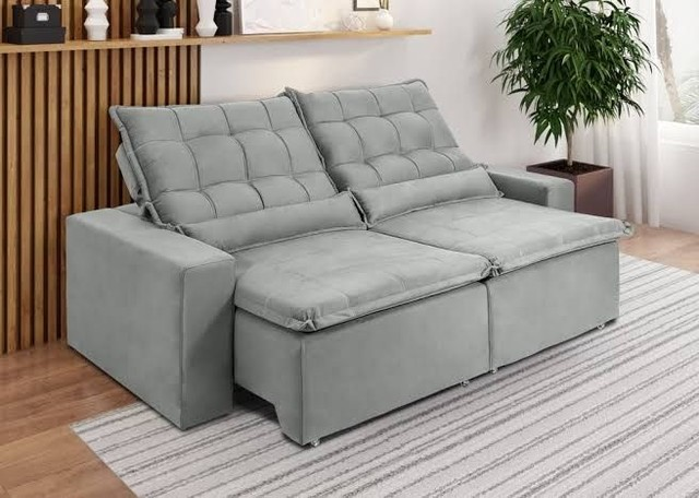 Lindo sofá retrátil - Foto 4