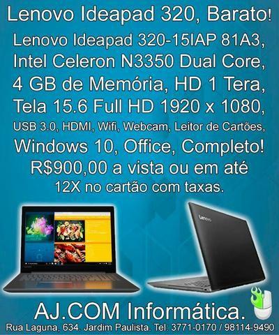 Lenovo Ideapad 320, Barato! pronto para uso! Tela grande, Teclado numérico!