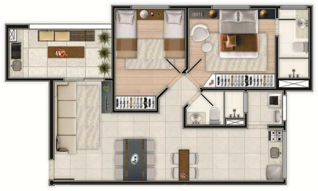 """* Oportunidade! Siete Residence *""- 02 dorms c/ suíte, piso, box e varanda gourmet-Pronto - Foto 15"