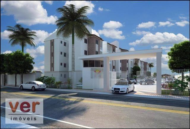 Apartamento com 2 dormitórios à venda, 48 m² por R$ 197.930 - Parangaba - Fortaleza/CE