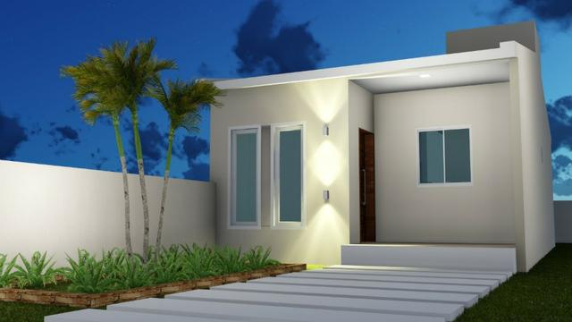 Vendo Casas 2 ou 3 quartos na cidade jardim - Financiamento Caixa - Entrada com FGTS - Foto 2