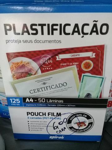 Encadernação - plastificação - carimbos - foto 3x4- placas de aço para homenagem - Foto 4