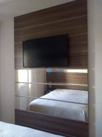 3 dormitórios sendo uma suíte e sacada na sala - jardim das indústrias - jacareí - Foto 2