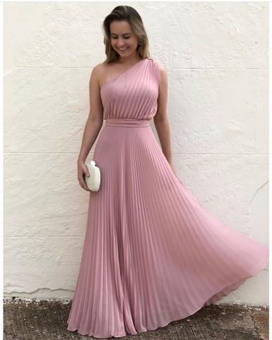 Vestido longo plissado lindo - Foto 5