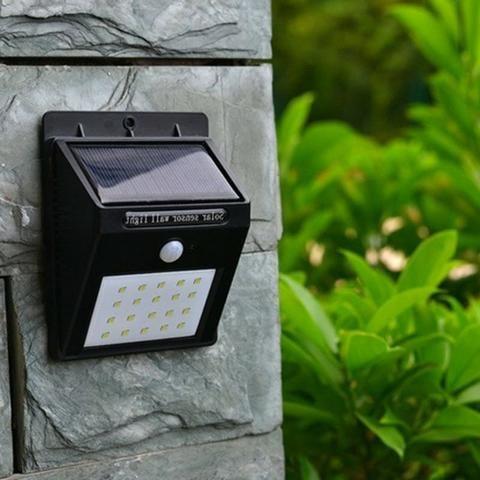 Luminária Solar com Sensor de Presença de Led - Foto 2