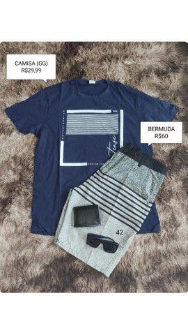 Bermudas e blusas masculinas - Foto 3