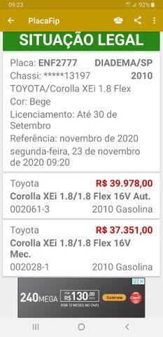 Corolla xei 1.8 Flex automático!  - Foto 7
