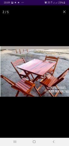 Jogo mesas madeira ypê. Para Bar, restaurante e lanchonetes. - Foto 2