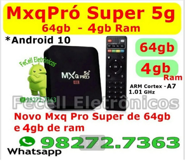 TvBox Smart MXQPro 4k 4gb/64gb Android