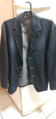 Vendo jaqueta masculina jeans - Foto 3